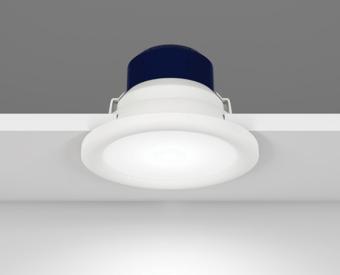 שקוע תקרה לשימוש תאורת פנים. מקור אור 11W לד.   מיוצר מאלומיניום.   זמין בצבע לבן.