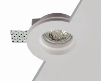 שקוע תקרה לשימוש תאורת פנים. מקור אור 1X50W PAR16 GU10.   מיוצר מגבס.   זמין בצבע לבן.