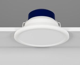 שקוע תקרה לשימוש תאורת פנים. מקור אור 22W לד Tridonic.   מיוצר מאלומיניום.   זמין בצבע לבן.