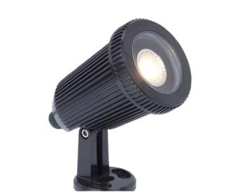 מנורת רצפה לשימוש תאורת חוץ. מקור אור 8W MR16 GU53.   מיוצר מפלסטיק.   זמין בצבע שחור.