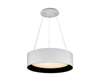 מנורת תלייה לשימוש תאורת פנים. מקור אור 25W לד.   מיוצר מפלסטיק.   זמין בצבע שחור, אדום, לבן.