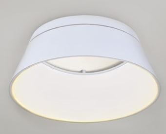 צמוד תקרה לשימוש תאורת פנים. מקור אור 72W לד.   מיוצר מאלומיניום + אקרילי.   זמין בצבע לבן.