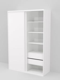 """כלול במחיר:  מידות:     ג'-240, ר'-160, ע'-60  סידור פנימי מורחב:     8 תאים + תא עם מוט לתליית קולבים  גוונים לבחירה:     לבן, שמנת או אלון מבוקע.  סוג עץ גוף ודלתות:     לוחות עץ מתועש מצופים מלמין , הלוחות מיוצרים באירופה, איכותיים ביותר עם שיכבה כפולה והגנת ציפוי """"Anti Scratch"""" לאריכות חיי הארון.   למזמינים הובלה והרכבה תינתן תעודת אחריות ל 3 שנים   מבחר ארונות במידות שונות: רוחב 120, 180, 240 ס""""מ ועוד."""