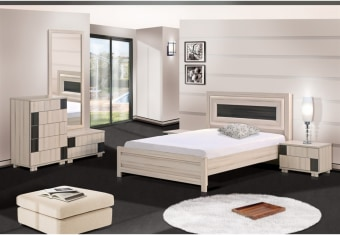 מיטה זוגית מעוצבת עם פרופילים מעוגלים בראש המיטה, קומפלט בסגנון יפני מיוחד במינו הלא דורש ידיות. החדר מגיע בשילוב צבעים לפי בקשת הלקוח צבע 2014+ שילוב 2018 מידות חיצוניות מיטה: רוחב: 148 גובה: 110 אורך: 206 שידת לילה: רוחב: 55 גובה: 42 עומק: 40 יח` 5 מגירות גבוהה: רוחב: 60 גובה: 94 עומק: 40 שידת מראה: רוחב: 70 גובה: 39 עומק: 40 מראה: רוחב: 70 גובה: 150 * חומר גלם MDF. * ניתן לקבל בתוספת מחיר הפרדה יהודית בשלוש אופציות: A,B, C. *ניתן לקבל בתוספת מחיר ארגז מצעים. *אפשרות לקבל שידת לילה ברוחב 40. *ניתן לקבל בסנדוויץ` פרומייקה לפי טבלת צבעים (פרט לפרופילים מעוגלים MDF) ·       אפשר    לקבל מיטה בגודל 160X200      בתוספת של 450 שח