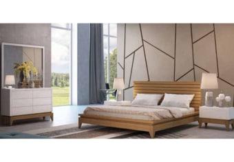 """מידע כללי: חדר שינה הכולל מיטה זוגית, 2 שידות, קומודה ומראה גדולה, ניתן להזמין את החדרי שינה המעוצבים במידות ועיצוב בהתאמה אישית. במבצע, המחיר מתייחס למיטה זוגית למזרן במידות: 140/190 ס""""מ. המחיר לא כולל מזרן, . . הוראות שימוש וטיפול: לנגב את הרהיטים בחדר שינה במטלית יבשה או לחה . ארץ יצור: תוצרת כחול לבן"""