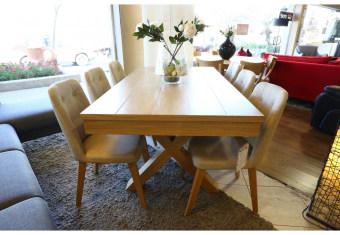 """שולחן פינת אוכל +6    כיסאות דגם ליבורנו פינת אוכל בסגנון קלאסי    יוקרתי ועשיר + 6 כיסאות פינת האוכל בגימור    פורניר אלון בשילוב עץ מלא. כסאות פינת האוכל מעץ    מלא ומרופדות בבד רחיץ ודוחה נוזלים. מידות: 100*180 + הארכה של    120 ס""""מ תיתכן סטייה של 2% מחירון משלוח : 450 ₪ (ישולם למוביל) תנאי משלוח : הובלה והרכבה ישולם    ע""""י הלקוח למוביל בעת ההגעה. מעל קומה שלישית ללא מעלית תוספת של 50 ש""""ח    לקומה במידה וצריך מנוף ישולם ע""""י הלקוח בכל    מקרה של צורך בשרותי מנוף חיצוניים או פירוק והרכבה החיוב יחול על הלקוח. הובלות    מעבר לנתיבות באר שבע שדרות וללהבים דרומה ומערבה {עוטף עזה עד מעברי הגבול} ומעבר    לקו הירוק, לעפולה מזרחה ועד לחיפה צפונה ייתכן עיכוב באספקה של עד 14 יום ותוספת    של 250 ₪ ישירות למוביל. לאזור    מצפה רמון\אילת תהיה תוספת של 350 ₪."""