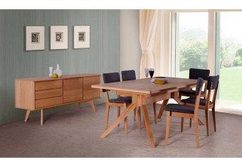 """שולחן פינת אוכל +6    כיסאות דגם אדרת פינת אוכל בסגנון מודרני    + 6 כיסאות שולחן פורניר עץ אלון    בשילוב עץ מלא מידות: 100*180 ס""""מ+ 2    הארכות 50 ס""""מ כל אחת צבעים:טבעי תיתכן סטייה של 2% מחירון משלוח : 450 ₪ (ישולם למוביל) תנאי משלוח : הובלה והרכבה ישולם    ע""""י הלקוח למוביל בעת ההגעה. מעל קומה שלישית ללא מעלית תוספת של 50 ש""""ח    לקומה במידה וצריך מנוף ישולם ע""""י הלקוח בכל    מקרה של צורך בשרותי מנוף חיצוניים או פירוק והרכבה החיוב יחול על הלקוח. הובלות    מעבר לנתיבות באר שבע שדרות וללהבים דרומה ומערבה {עוטף עזה עד מעברי הגבול} ומעבר    לקו הירוק, לעפולה מזרחה ועד לחיפה צפונה ייתכן עיכוב באספקה של עד 14 יום ותוספת    של 250 ₪ ישירות למוביל. לאזור    מצפה רמון\אילת תהיה תוספת של 350 ₪."""