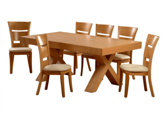 """שולחן פינת אוכל +6    כיסאות דגם הראל פינת אוכל בסגנון מודרני    יוקרתי ועשיר + 6 כיסאות פינת האוכל בגימור    פורניר אלון בשילוב עץ מלא. נפתחת עד גודל 400    ס""""מ. מידות: 105*200 + 4 הארכות    50 ס""""מ כל אחת צבעים:טבעי,אגוז(אלון    מולבן,אגוז טבעי בתוספת תשלום) תיתכן סטייה של 2% מחירון משלוח : 450 ₪ (ישולם למוביל) תנאי משלוח : הובלה והרכבה ישולם    ע""""י הלקוח למוביל בעת ההגעה. מעל קומה שלישית ללא מעלית תוספת של 50 ש""""ח    לקומה במידה וצריך מנוף ישולם ע""""י הלקוח בכל    מקרה של צורך בשרותי מנוף חיצוניים או פירוק והרכבה החיוב יחול על הלקוח. הובלות    מעבר לנתיבות באר שבע שדרות וללהבים דרומה ומערבה {עוטף עזה עד מעברי הגבול} ומעבר    לקו הירוק, לעפולה מזרחה ועד לחיפה צפונה ייתכן עיכוב באספקה של עד 14 יום ותוספת    של 250 ₪ ישירות למוביל. לאזור    מצפה רמון\אילת תהיה תוספת של 350 ₪."""