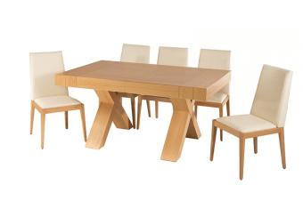 """שולחן פינת אוכל +6    כיסאות דגם הדר פינת אוכל בסגנון קלאסי    יוקרתי ועשיר + 6 כיסאות פינת האוכל בגימור    פורניר אלון בשילוב עץ מלא. נפתחת עד גודל 360    ס""""מ. מידות: 100*160 + 4 הארכות    50 ס""""מ כל אחת צבעים:טבעי,אגוז תיתכן סטייה של 2% מחירון משלוח : 450 ₪ (ישולם למוביל) תנאי משלוח : הובלה והרכבה ישולם    ע""""י הלקוח למוביל בעת ההגעה. מעל קומה שלישית ללא מעלית תוספת של 50 ש""""ח    לקומה במידה וצריך מנוף ישולם ע""""י הלקוח בכל    מקרה של צורך בשרותי מנוף חיצוניים או פירוק והרכבה החיוב יחול על הלקוח. הובלות    מעבר לנתיבות באר שבע שדרות וללהבים דרומה ומערבה {עוטף עזה עד מעברי הגבול} ומעבר    לקו הירוק, לעפולה מזרחה ועד לחיפה צפונה ייתכן עיכוב באספקה של עד 14 יום ותוספת    של 250 ₪ ישירות למוביל. לאזור    מצפה רמון\אילת תהיה תוספת של 350 ₪."""