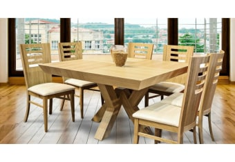 """שולחן פינת אוכל +6    כיסאות דגם ירדן פינת אוכל מרובעת בסגנון    מודרני + 6 כיסאות שולחן פורניר עץ אלון    בשילוב עץ מלא מידות: 130*130 ס""""מ+ 2    הארכות 50 ס""""מ כל אחת צבעים:טבעי תיתכן סטייה של 2% מחירון משלוח : 450 ₪ (ישולם למוביל) תנאי משלוח : הובלה והרכבה ישולם    ע""""י הלקוח למוביל בעת ההגעה. מעל קומה שלישית ללא מעלית תוספת של 50 ש""""ח    לקומה במידה וצריך מנוף ישולם ע""""י הלקוח בכל    מקרה של צורך בשרותי מנוף חיצוניים או פירוק והרכבה החיוב יחול על הלקוח. הובלות    מעבר לנתיבות באר שבע שדרות וללהבים דרומה ומערבה {עוטף עזה עד מעברי הגבול} ומעבר    לקו הירוק, לעפולה מזרחה ועד לחיפה צפונה ייתכן עיכוב באספקה של עד 14 יום ותוספת    של 250 ₪ ישירות למוביל. לאזור    מצפה רמון\אילת תהיה תוספת של 350 ₪."""