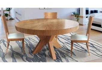 """שולחן פינת אוכל +6    כיסאות דגם סאן פינת אוכל עגולה בסגנון    מודרני + 6 כיסאות פלטה עליונה מפורניר    עץ אלון טבעי כסאות פינת האוכל    ורגל השולחן מעץ מלא  מידות: 140 ס""""מ+ 2 הארכות    של 50 ס""""מ צבעים:טבעי,אלון    פראי(בתוספת תשלום) תיתכן סטייה של 2% מחירון משלוח : 450 ₪ (ישולם למוביל) תנאי משלוח : הובלה והרכבה ישולם    ע""""י הלקוח למוביל בעת ההגעה. מעל קומה שלישית ללא מעלית תוספת של 50 ש""""ח    לקומה במידה וצריך מנוף ישולם ע""""י הלקוח בכל    מקרה של צורך בשרותי מנוף חיצוניים או פירוק והרכבה החיוב יחול על הלקוח. הובלות    מעבר לנתיבות באר שבע שדרות וללהבים דרומה ומערבה {עוטף עזה עד מעברי הגבול} ומעבר    לקו הירוק, לעפולה מזרחה ועד לחיפה צפונה ייתכן עיכוב באספקה של עד 14 יום ותוספת    של 250 ₪ ישירות למוביל. לאזור    מצפה רמון\אילת תהיה תוספת של 350 ₪."""
