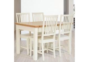 """שולחן פינת אוכל +4    כיסאות דגם שחר פינת אוכל בסגנון קלאסי+4    כיסאות פינת האוכל בגימור    פורניר אלון בשילוב עץ מלא. רגלי פינת האוכל מעץ    מלא  מידות: 80*120 + 2 הארכות של    50 ס""""מ תיתכן סטייה של 2% שילוב אלון טבעי+שמנת תנאי משלוח : הובלה והרכבה ישולם    ע""""י הלקוח למוביל בעת ההגעה. מעל קומה שלישית ללא מעלית תוספת של 50 ש""""ח    לקומה במידה וצריך מנוף ישולם ע""""י הלקוח בכל    מקרה של צורך בשרותי מנוף חיצוניים או פירוק והרכבה החיוב יחול על הלקוח. הובלות    מעבר לנתיבות באר שבע שדרות וללהבים דרומה ומערבה {עוטף עזה עד מעברי הגבול} ומעבר    לקו הירוק, לעפולה מזרחה ועד לחיפה צפונה ייתכן עיכוב באספקה של עד 14 יום ותוספת    של 250 ₪ ישירות למוביל. לאזור    מצפה רמון\אילת תהיה תוספת של 350 ₪. מחירון משלוח : 450 ₪ (ישולם למוביל)"""