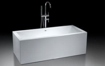 """אמבטיה 100% אקליק טהור  צבע לבן  מידות: 1788x800x580 מ""""מ.  אמבטיה עשויה 100% אקריליק טהור,  הוראות הכנה להתקנה:  1. הכנת פתח ניקוז בגודל 30*50 ס""""מ ועומק 10 ס""""מ מתחת למרכזה של האמבטיה.  2. התקנת רגליים לפילוס (איזון) האמבטיה, אם יש צורך.  3. אל ניקוז האמבטיה יתחבר צינור בקוטר 40 מ""""מ.  4. הכנה לצינורות חם / קר בהתאם לדרישה- במידה ולאמבטיה ברז מילוי עומד יש צורך בהכנת צנרת מהרצפה, אם לאמבטיה אביק מילוי יש צורך בצנרת צמוד לאביק במקום נסתר מהעין, אם לאמבטיה אונטרפוץ או סוללה יש צורך בהכנת צנרת מקיר."""