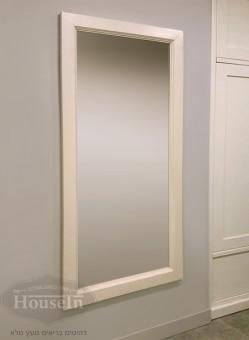 """מראה מלבנית בדוגמא מדורגת לתלייה על הקיר, מסגרת עשויה מעץ מלא (קרוליינה), ניתן להזמין בצבעים ובגדלים שונים.  מידות:  150/70 ס""""מ"""