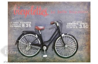 """מידות:  80/57.5/8 ס""""מ  תמונה מעץ עם תבליט אופניים מברזל בצבע שחור, ממש כמו אופניים אמיתיים. לאיבזור מיוחד לחדר ילד או נער.  קוד המוצר: AYM083"""