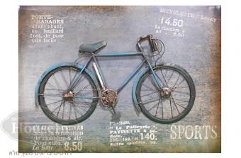 """מידות:  80/57.5/8 ס""""מ  תמונה מעץ עם תבליט של אופניים בצבע תכלת. מתאימה לתלייה בחדרי ילדים ונוער, בסטודיו, במשרד או בכל מקום שמתאים לכם.  קוד המוצר: AYM084"""