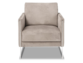כורסא בעיצוב איטלקי מודרני ובשילוב רגלי מתכת למראה ייחודי