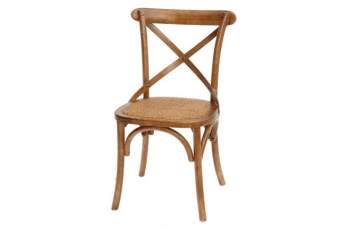 """כסא אוכל אגוז מעץ בגוון מהמם    כסא אוכל אגוז לפינת האוכל. הכסאות מיוצרים מעץ מלא ואיכותי מעוצבים בסגנון כפרי ונחשבים לנוחים במיוחד וכוללים משענת איקס מעוגלת ומשטח ישיבה מרופד וחיזוקים ברגליים. רוחב המושב 45 ס""""מ ורוחב המשענת 50 ס""""מ. הכסא צבוע בגוון אגוז ומצופה לכה שקופה להגנה על הצבע עם יכולת להשתלב עם כמעט כל שולחן אוכל."""
