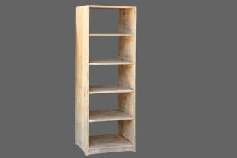 כוורת מדפים פתוחה ומיוחדת לתצוגה    כוורת מדפים צרה מעץ מלא ואיכותי בגוון טבעי. הכוורת עם מדפים עמוקים במיוחד, מעוצבת בסגנון כפרי בצבע טבעי ומבנה נגיש ושימושי. הכוורת עשויה מעץ בוקיצה (elm wood) איכותי וחזק ומתאימה לאחסון של ספרים או חפצים גדולים. רהיט כפרי וחם המתאים כתוספת אחסון או תצוגה לבית, עם נגיעה עיצובית וכפרית.