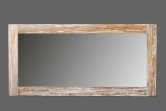מראה גדולה מעץ אלון בשני גדלים לבחירה    מראה גדולה מעץ אלון מלא בסגנון עיצוב כפרי מקורי. המראה עם מעט הלבנה להדגשת הטקסטורה של העץ הטבעי, מיוצרת בשני גדלים (ראו סרגל מידות) ומתאימה לתלייה לאורך או לרוחב בהתאם לצורך. תוספת עיצובית כפרית מקסימה לחלל המגורים בסלון או בתור מראת גוף בחדר השינה. למראה יתרון נוסף של הגדלת תחושת המרחב הפנימי בבית, משלוח לכל הארץ.