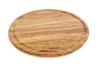קרש חיתוך עגול בשני גדלים לבחירה    קרש חיתוך עגול מעץ טבעי מלא. הקרש מיוצר מעץ זית איכותי ובעל מראה טבעי הכולל את הטקסטורה של העץ המלא. מתאים לעבודה שוטפת במטבח אבל גם בתור משטח להגשה של גבינות וכדומה. מוצר מקסים תוצרת איטליה,