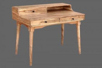 שולחן כתיבה מכתבה בסגנון סקרטר – תוספת מקסימה בסגנון של פעם    שולחן כתיבה מכתבה מעץ בעיצוב רטרו קלאסי. השולחן מיוצר מעץ מלא ואיכותי ומעוצב בסגנון המכתבות של תחילת המאה. מתאים בתור שולחן כתיבה ליחיד או כפריט עיצובי העומד בפני עצמו. ניתן להתאים תאורה ממוקדת לאפקט ומראה דרמטי, תוספת מיוחדת לחדרים או לסלון בבית, עכשיו עם שרות משלוחים לכל הארץ. מומלץ לוודא זמינות במלאי.