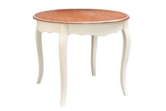 שולחן עגול פרובנס מעוצב לארבעה סועדים במחיר מבצע    שולחן עגול פרובנס בסגנון כפרי צרפתי. השולחן מיוצר מעץ מלא ומתאים לארבעה סועדים ומעוצב בגוונים רכים של שמנת ועץ טבעי בהתאם לסגנון העיצוב הקלאסי של פרובנס. שולחן מקסים ואינטימי לעיצוב פינת אוכל קטנה במטבח או במרפסת, ניתן להשיג בשני גדלים, עכשיו בחדר התצוגה.