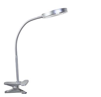 מנורת קליפס תומס כסף LED  צבעים: כסף ולבן
