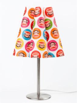 גובה המנורה 40 סנטימטרים.  מנורת זולחן זו תוסיף חן ואור לחדר הילדים.  המנורה מגיעה בעיצובים מדליקים:  פול פרנק.  ורוד.
