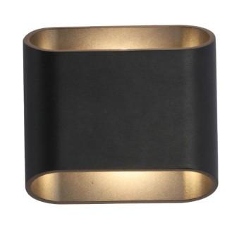 """מנורת קיר LED 10W 163  צבעים: לבן / שחור  רוחב: 15 ס""""מ  עומק: 9.5 ס""""מ  גובה: 16 ס""""מ  LED/10W 3000K"""