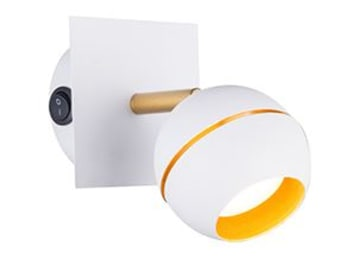 """תומסון קיר לבן או שחור LED 5W  אורך: 10 ס""""מ  רוחב: 10 ס""""מ  עומק: 16 ס""""מ  LED/5W"""