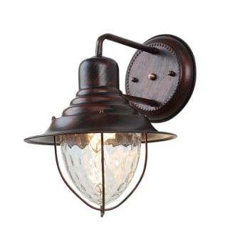 גוף תאורה מוגן מים צמוד קיר  לנורת ליבון E27 60W  צבעים:  נחשות  מידע טכני  קוטר 250  גובה 359  עומק 300  מבנה דקופיר וזכוכית  נורה E27 60W נורת פחם  IP 54
