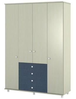 ארון דלתות פתיחה על במה +קרניז עם 4 מגירות עולות באמצע.