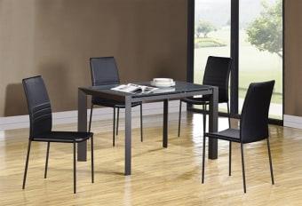 """שולחן דגם: RF1055ADT זכוכית השולחן הינה זכוכית מחוסמת . השולחן מגיע בשני צבעים: לבן אקסטרה קליר/אפור מידות: 1220X800X760 במצב פתוח אורך מקסימאלי: 1820 *החלקים להגדלת השולחן עשויים אפוקסי לבן/אפור כיסא דגם: RF239DC הכיסא מגיע בשני צבעים: לבן/שחור מידות: 440X420X960 *יתכנו שינויים בגוונים בין הקטלוג למוצר המוחשי *יתכנו שינויים במידות, סטייה של עד 5ס""""מ"""