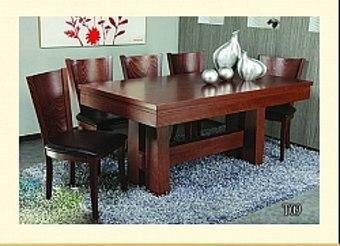 שולחן פינת אוכל + 6 כיסאות   מערכת מסיבית ומעוצבת   העיצוב המסיבי מעניק למערכת נוכחות ואווירה חמה בבית.   המערכת עשויה מעץ מלא דבר המבטיח חוזק ועמידות לאורך שנים.   המערכת כוללת שישה כיסאות מסיביים ונוחים במיוחד.   השולחן ניתן להגדלה לפי מספר הסועדים לפי הצורך והוא מכיל הגדלה אחת של 70 ס''מ שנותנת מידה סופית של 2.50.   כמו כן השולחן ניתן לפירוק והרכבה בצורה רב פעמית דבר המבטיח העברה ללא פגיעות מיותרות   .   המושבים מרופדים בדמוי עור איכותי בצבעי שמנת או חום לפי בחירה.   מידות השולחן:   אורך: 1.80 ס''מ   רוחב: 95 ס''מ   מידות כסא:   גובה: 98 ס''מ   רוחב: 45 ס''מ   עומק: 45 ס''מ   צבעים:   דובדבן , שחור ונגה, חום אגוז   * מעל קומה 3 בהעמסה ידנית תהיה תוספת של 40 ₪ לקומה.   בכל מקרה של צורך בשרותי מנוף חיצוניים החיוב יחול על הלקוח.   הובלות מחיפה צפונה, מבאר שבע דרומה ומעבר לקו הירוק ייתכן עיכוב באספקה של 14 יום וכמו כן קיימת תוספת מחיר של 150 ₪ להובלה