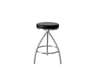"BC106 שחור  כיסא בר מעוצב עגול בסגנון מודרני נקי ללא משענת גב העשוי מנירוסטה איכותית בשילוב מושב מרופד מדמוי עור איכותי מסוג PU. כיסא זה הינו בעל מבנה של 3 רגליים המעניק לכיסא יציבות מירבית.  מידות:     רוחב- 46 ס""מ     עומק- 46 ס""מ     גובה- 80 ס""מ"