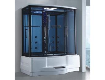 "GT0215F  מקלחון עיסוי מלבני מפנק במיוחד. מקלחון זה בנוי מאמבטיה בחלקו התחתון אשר ניתן למלאה מים ולשכב בהם לאורך שעות.במקלחון זה מותקנות בו דלתות הזזה פנימיות לחיסכון במקום בחלל האמבטיה.  הפונקציות במקלחון זה הן:     1. מאוורר לסינון האדים     2. רמקול מובנה בתקרת המקלחון ומבודד מים     3. רדיו מובנה     4. מחולל אדים (סאונה רטובה)     5. מנורה מובנית בתקרה     6. ג'טים בגב למסג'     7. מקלחון ידני נייד     8. טוש מובנה בתקרה     9. בורר מצבים לשליטה בפתחי המים     10. בורר טמפרטורה לשליטה בטמפרטורת המים     11. מידוף לסבונים     12. תאורת לד דקורטיבית      13. מסג' רגליים   מידות:      אורך- 180 ס""מ      עומק- 98 ס""מ      גובה- 215 ס""מ"
