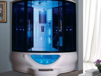 "022  22A הינו מקלחון עיסוי פינתי מפנק וגדול במיוחד.  מקלחון זה בנוי מאמבטיה עם ג'קוזי בחלקו התחתון כך שניתן למלאו מים ולשכב בתוכו שעות.  לאמבטיית המקלחון זכוכית הדופן החיצונית ההופכת את מראה האמבטיה לדקורטיבי יותר.  כמו כן, לאמבטיה זו מדרגת טיפוס מובנית באקריל.  במקלחון זה מותקנות דלתות הזזה פנימיות לחיסכון במקום בחלל האמבטיה.   הפונקציות במקלחון זה הן:  1. מאוורר תקרתי לסינון האדים מתוך המקלחון  2. רמקול מובנה בתקרת המקלחון ומבודד מים  3. רדיו מובנה בגוף המקלחון ומוגן מים  4. סאונה רטובה בעוצמה של 2.8KW  5. מנורת לד מובנית בתקרת המקלחון  6. 6 ג'טים בגב למסג'  7. טוש ידני נייד כולל מתקן תלייה  8. טוש תקרתי מובנה בתקרה  9. בורר מצבים לשליטה בפתחי המים (אינטרפוץ)  10. בורר טמפרטורה לשליטה בטמפרטורת המים  11. מידוף לסבונים  12. תאורת לד דקורטיבית  13. מתקן נייד למסג' רגליים  14. ג'קוזי   15. מאחז ידיים  16. מתקן למגבות   מידות:   אורך- 150 ס""מ  עומק- 150 ס""מ  גובה- 235 ס""מ   מפרט טכני:   שלדת המקלחון עשויה ממבנה נירוסטה חזק במיוחד.  גוף האמבטיה והתקרה עשויים מאקריל  מבנה המקלחון והדלתות עשוי מזכוכית מחוסמת ואלומיניום.   דרישות מקדימות:  ניקוז- יש להכין נק' ניקוז במרחק 100ס""מ משמאל, 70 ס""מ מימין.  מים- יש להכין 2 ברזי ניל בדופן הימנית בגובה 100 ס""מ מהרצפה, 10 ס""מ מהפינה.  חשמל- יש להכין 2 שקעי חשמל מוגני מים (3*4 10A) בדופן השמאלית, בגובה 120 ס""מ 10 ס""מ מהפינה.  *טיפים- יש להכין את נק' הביקורת בביוב מחוץ לשטח המקלחון."