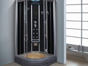 "D0901  מקלחון עיסוי מפנק בצורה יוצאת דופן! מקלחון זה בנוי מאגנית בחלקו התחתון ומותקנות בו דלתות הזזה פנימיות לחיסכון במקום בחלל האמבטיה.  הפונקציות במקלחון זה הן:     1. מאוורר לסינון האדים     2. רמקול מובנה בתקרת המקלחון ומבודד מים     3. רדיו מובנה     4. מחולל אדים (סאונה רטובה)     5. מנורה מובנית בתקרה     6. ג'טים בגב למסג'     7. מקלחון ידני נייד     8. טוש מובנה בתקרה     9. בורר מצבים לשליטה בפתחי המים     10. בורר טמפרטורה לשליטה בטמפרטורת המים     11. מידוף לסבונים     12. תאורת לד דקורטיבית      13.כיסא לישיבה   מידות:      אורך- 100 ס""מ      עומק- 100 ס""מ      גובה- 215 ס""מ"