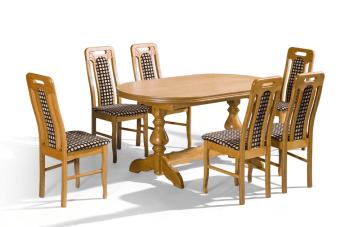 """שולחן אוכל MARS -1  שולחן אוכל מעץ אלמון עם פורניר מיובא מאירופה באיכות גבוהה ביותר. השולחן בעיצוב כפרי יוקרתי ומיוחד מאוד! הפלטה העליונה אובלית עם רגליים מיוחדות מאוד שביחד מקנות לשולחן מראה מאוד מיוחד ויוקרתי  מידות השולחן סגור:  80/160  פתוח:  80/200  **השולחן קיים גם במידה גדולה יותר:  -סגור-90/160 פתוח-90/200במחיר: 2540 ש""""ח.  *קיים במבחר גדול של צבעים  המחיר לא כולל את הכיסאות  מבחר גדול של כיסאות בתוספת תשלום לבחירה   ניתן לקבל שירות הרכבה בתוספת 150 שח"""