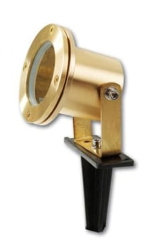 "תאור:  חומר: פליז  צבע: זהב  נורה: דקרויקה  MR-16 12V 35W  אורך: 9.7 ס""מ  קוטר: 9.8 ס""מ  כולל דוקרן פלסטיק"