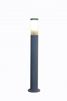 """תאור:  חומר: אלומיניום  צבע: אפור כסוף  נורה: אי אל EL 230V 18W  גובה עמוד: 84 ס""""מ  קוטר עמוד: 9 ס""""מ  קוטר בסיס: 12 ס""""מ  הערות: עמוד תאורה למתח 230Vבלבד."""