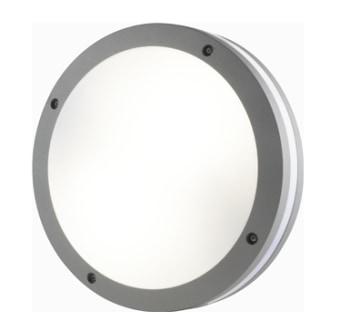 גוף תאורה צמוד קיר תקרה מוגן מים להארה ישירה עם הארה דקורטיבית מסביב לגוף התאורה.  מקור אור: CFL 2*26W 230V.  בית נורה: 2*E-27.  אופציה נוספת: PLC 2*26W 230V.  בית נורה: G24d*2.  גוון אור: לפי הנורה.  אלומה: רחבה כלפי מטה ודקורטיבית לצידיי גוף התאורה.  גוף: יציקת אלומיניום.  עדשה: פוליקרבונט אופל.  התקנה: צמוד קיר תקרה באמצעות פלטת התקנה.  גימור: אפור מטלי.  לבן