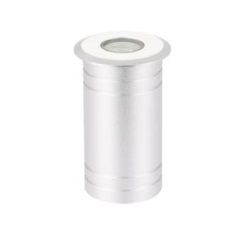 גוף תאורה שקוע רצפה LED מוגן מים להארה דקורטיבית או סימון.  מקור אור: CREE POWER LED 3W 230V.  גוון אור: לבן חם 3000K.  אלומה: 25 מעלות.  מסגרת: אלומיניום.  גוף: אלומיניום.  עדשה: זכוכית מחוסמת שקופה.  ציוד: דרייבר 3W (כלול).  התקנה: שקועה בקופסת ביטון (כלולה) במשטח יצוק או בדק (לא להתקנה באדמה!).  גימור: נירוסטה.