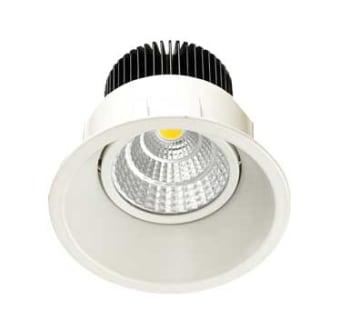 גוף תאורה ספוט שקוע מתכוונן DARK LIGHT (מונע סינוור) לנורת LED עם מסגרת דקה במיוחד (TRIMLESS).  מקור אור: BRIDGELUX COB LED 12W.  גוון אור: לבן חם 3000K.  לבן קר 6000K.  אלומות: 36 מעלות.  גוף: יציקת אלומיניום.  עדשה: זכוכית מחוסמת שקופה.  רפלקטור: אלומיניום.  התקנה: שקועה בתקרה.  ציוד: דרייבר (כלול).  גימור: לבן מט.