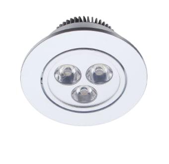 גוף תאורה ספוט שקוע מתכוונן לנורות LED.  מקור אור: POWER LED 3*1W 230V.  גוון אור: לבן חם.  אלומה: 30 מעלות.  גוף: אלומיניום.  התקנה: שקועה.  ציוד: דרייבר 3W 350MA (כלול).  גימור: לבן מט.  אלומיניום.