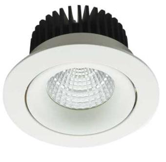 גוף תאורה ספוט שקוע מתכוונן DARK LIGHT (מונע סינוור) בצורת בולען לנורת LED.  מקור אור: BRIDGELUX COB LED 20W.  גוון אור: לבן חם 3000K.  לבן קר 6000K.  אלומות: 36 מעלות.  גוף: יציקת אלומיניום.  עדשה: זכוכית מחוסמת שקופה.  רפלקטור: אלומיניום.  התקנה: שקועה בתקרה.  ציוד: דרייבר (כלול).  גימור: לבן מט.