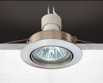 H120  שקוע תקרה לשימוש תאורת פנים. מקור אור 1X50W PAR16 GU10. מיוצר מאלומיניום. זמין בצבע לבן, ניקל מט.  מפרט טכני  מקור אור:  1X50W PAR16 GU10  מתח זינה:  230V  דרגות הגנה:  20  קבוצת בידוד:  2  חומר:  אלומיניום  זמין בצבע:  לבן, ניקל מט  אחריות:  1 שנים