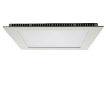 גוף תאורה LED PANEL שקוע תקרה דק במיוחד להארת חדרים, משרדים וכדומה.  מקור אור: SMD 18W 230V.  גוון אור: לבן חם 3000K.  COOL WHITE 4000K.  לבן קר 6000K.  אלומה: רחבה כלפי מטה.  גוף: יציקת אלומיניום.  עדשה: פוליקרבונט מט (אופל).  ציוד: דרייבר אינטגרלי.  התקנה: שקועה בתקרה.  גימור: לבן מט.