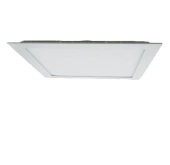 גוף תאורה LED PANEL שקוע תקרה דק במיוחד להארת חדרים, משרדים וכדומה.  מקור אור: SMD 36W 230V.  גוון אור: לבן חם 3000K.  COOL WHITE 4000K.  לבן קר 6000K.  אלומה: רחבה כלפי מטה.  גוף: יציקת אלומיניום.  עדשה: פוליקרבונט מט (אופל).  ציוד: דרייבר אינטגרלי.  התקנה: שקועה בתקרה.  גימור: לבן מט.